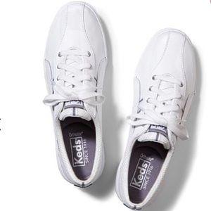 Keds Spirit II Leather Sneaker, white/silver